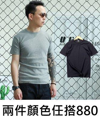 Cover Taiwan 官方直營 赤耳 合身 彈力 螺紋 圓領 素面Tee 素Tee Hanes 黑色 灰色 (預購)