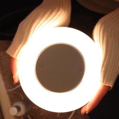智能七彩LED小夜燈無線充電式臥室床頭夜間照明簡易插電小燈超亮wyWY