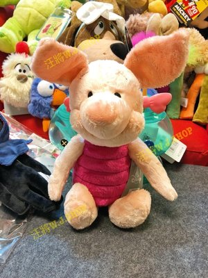 現+預☆汪將☆美國迪士尼 小熊維尼 粉紅小豬 piglet 皮傑 娃娃 絨毛布偶 14.5吋