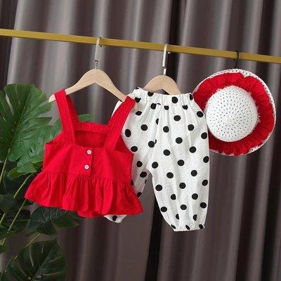 女寶寶夏裝2019新款套裝1-2-3-5歲夏季韓版洋氣兩件套女童兒童裝AMYP