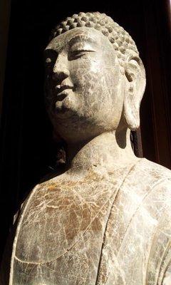 【紅蓮賞翫】 早期收藏    北齊石雕佛像(100cmx35cm)