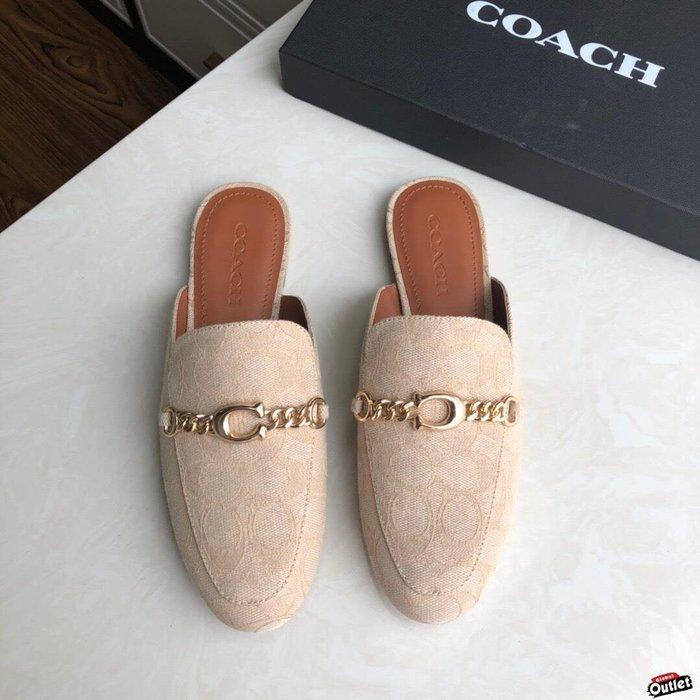 【全球購.COM】COACH 寇馳 2020新款 懶人鞋 五金屬滿版LOGO 百搭休閒鞋2 時尚精品 美國連線代購