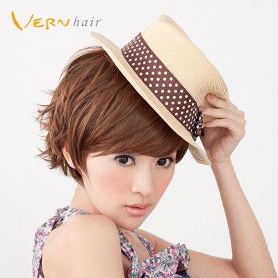 韋恩假髮-亞麻色-率性俐落短髮-男孩風第二代不打結升級款-日本高仿真髮絲-Vernhair【VH10936】