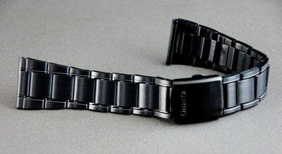 168錶帶配件 /黑色真空離子電鍍sea master 海馬風格24mm不鏽鋼製錶帶,非烤漆,seiko, citize