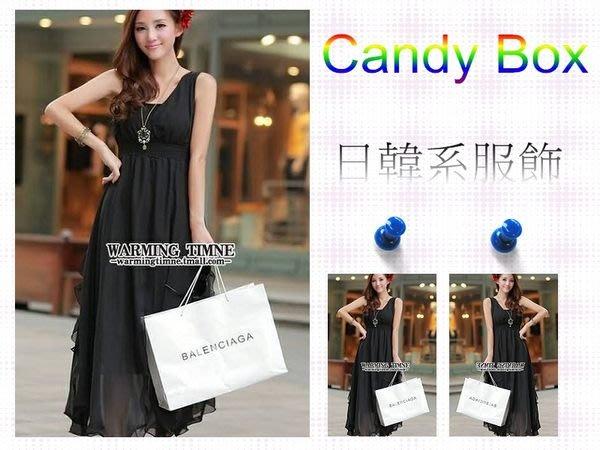 ☆Candy Box☆夏裝新款波西米亞雪紡連衣裙 黑 X2912354