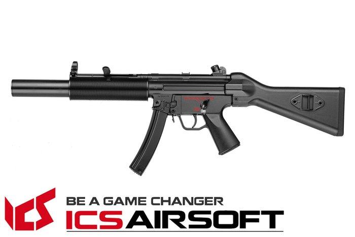 【翔準軍品AOG】ICS CES SD5 (黑)固定托 電動槍  全金屬 生存遊戲 ICS-01