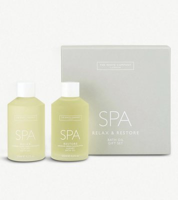 (預購)英國 THE WHITE COMPANY Spa bath oils set of two 兩瓶沐浴油 250ml