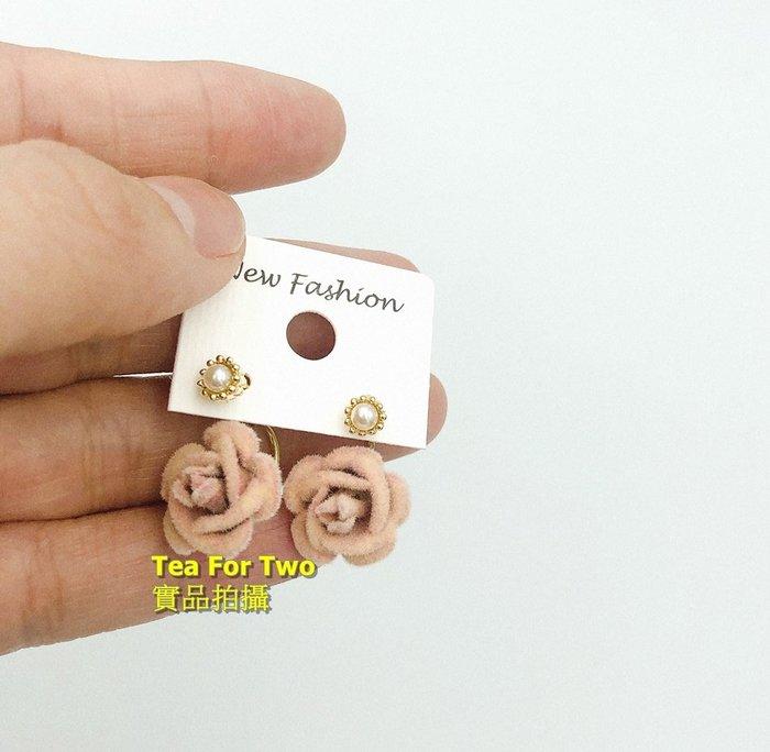 出清特賣- 百元系列 - 現貨No2 -粉色玫瑰花耳環