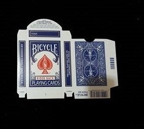 【天天魔法】【A325】Bicycle空牌盒(藍背)(Bicycle Box empty)(Blue)(全新)