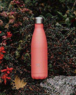 [SECOND LOOK]英國雜貨 Chilly's 蜜桃粉色 不鏽鋼 保溫 保冷 易口瓶 水壺 500ML