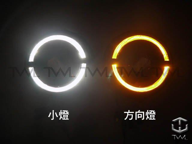 《※台灣之光※》BENZ賓士W463類W464樣式小改款HID專用LED黑底光圈投射頭燈大燈組G-CAR