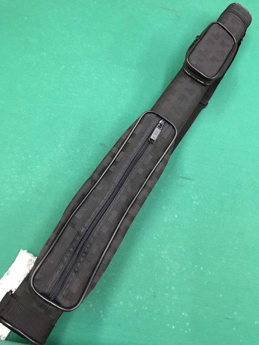 新款 三孔球筒 防潑水尼龍材質 3孔 纖維硬管 深黑方格紋圖案  球桿桶