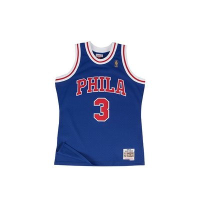M&N NBA 76人 ALLEN IVERSON #3  復刻球衣MNSWJG250DR【iSport愛運動】