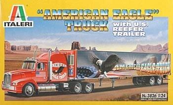 ITALERI 1/24 American Eagle Truck with 48 ft Trailer 冷凍貨櫃車組 (3826)