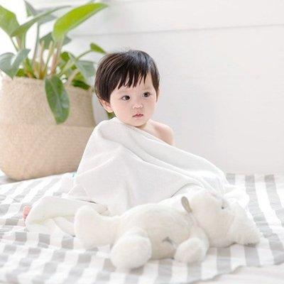❅PAVEE❅  韓國conitale~ Bamboo Bath Towel 嬰幼兒竹纖維柔軟吸水浴巾大毛巾包巾~白色