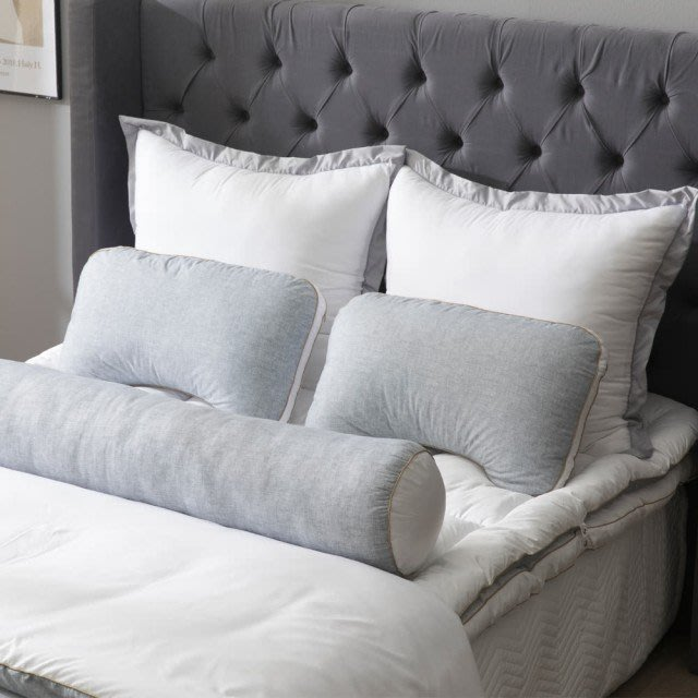 韓國 Kigeol Pillow 舒眠枕 2入+ 舒眠枕頭套 2入 + 長形身體抱枕 1入 五星飯店級 輕彈舒眠枕