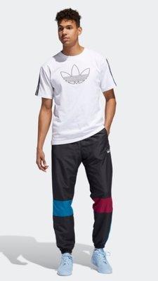 2021新款!Adidas愛迪達三葉草側邊三槓撞色款拼接色長褲縮口褲AB款男款ED-LK49210