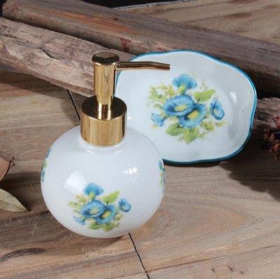 新款創意美式陶瓷衛浴家用洗手液瓶高檔肥皂托乳液分裝瓶浴室擺件
