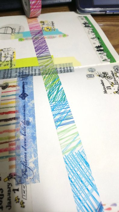 【R的雜貨舖】紙膠帶分裝 日本mt 和紙膠帶 Kapitza seesaw 塗鴉彩色線條