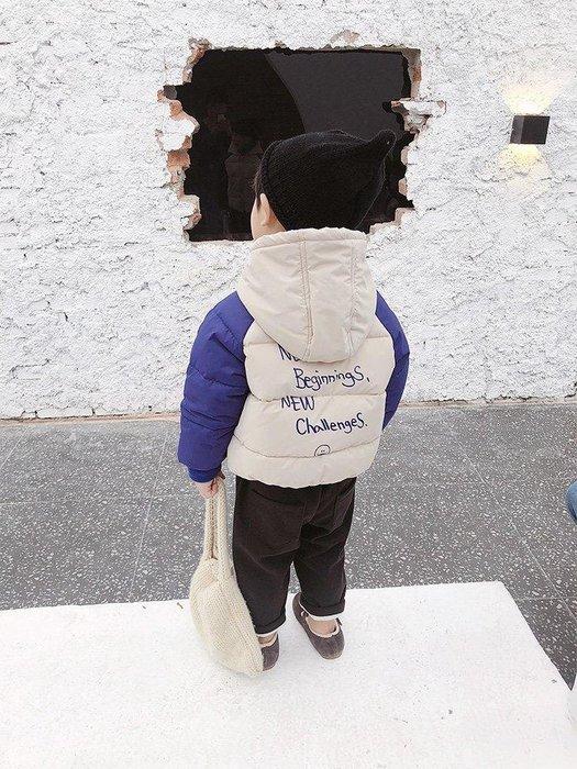 日和生活館 寶寶衣服 男寶寶服裝 兒童裝 萌萌童裝 小帥哥兒童棉服反季清倉男童新款1-3歲韓版寶寶休閒拼色棉衣 S988