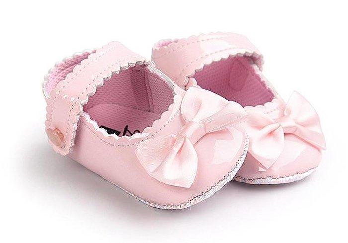 紫滕戀推出寶寶學步鞋嬰兒學步鞋 女寶寶公主鞋百天周歲禮服鞋女童鞋0-2歲  蝴蝶節款