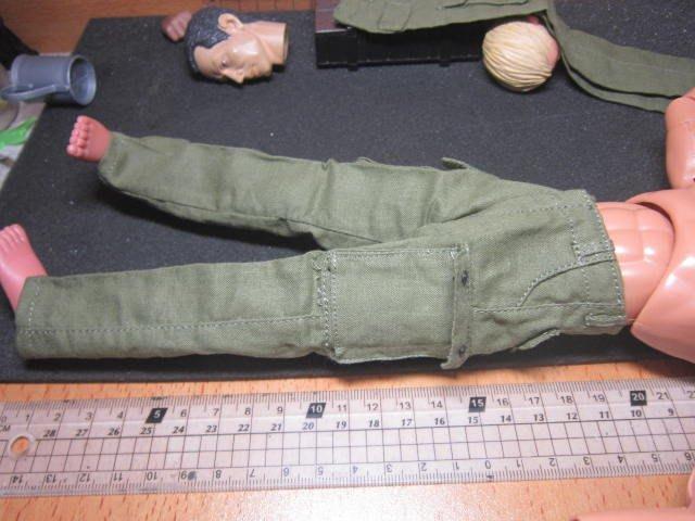 J3經理裝備 1/6綠色軍裝野戰褲一件(四口袋可置物)
