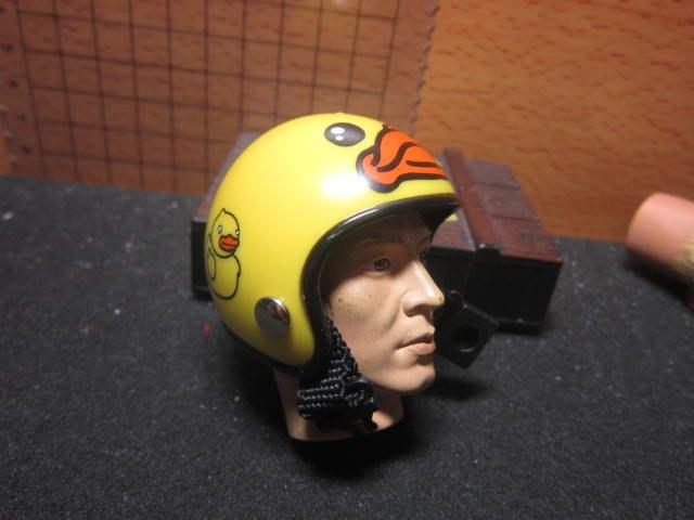 RJ1休閒部門 小黃鴨款1/6四分之三罩安全帽一頂(mini模型)