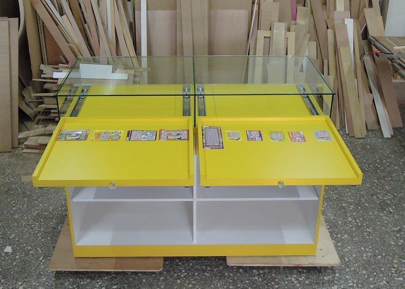 《全一》平台刮刮樂櫃 台灣彩卷櫃台 各式櫃台 威力彩 大樂透 運彩 刮刮樂 吧檯 展示櫃 珠寶櫃  (平台拉盤)