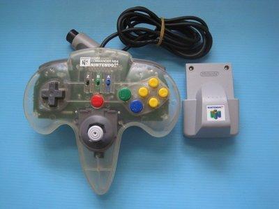 原裝 N64主機專用- HORI透明連發搖桿附振動卡