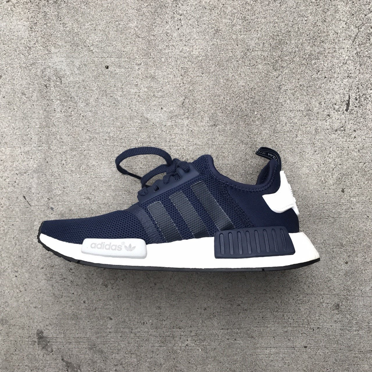 c9f491b281869 ☆LimeLight☆ Adidas Originals NMD Boost 拼接慢跑鞋S79161 深藍