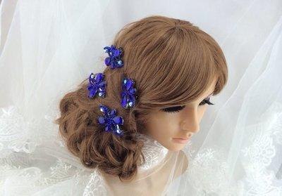 海洋新娘秘書飾品 水鑚耳環套組