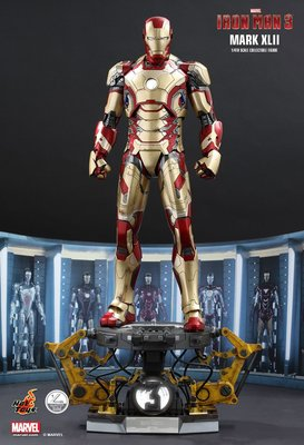 全新啡盒未開封 Hottoys 1:4 Mark 42 XLII Deluxe 豪華版 QS008 Ironman 鐵甲奇俠 Marvel Hot Toys