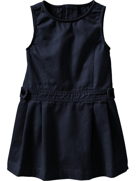 【Nichole's歐美進口優質童裝】Old Navy 女童 深藍色氣質學院風連身裙*Carter's/OshKosh