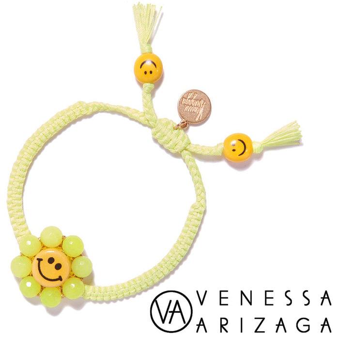 Venessa Arizaga HAPPY FLOWER BRACELET (NEON YELLOW) 笑臉手鍊