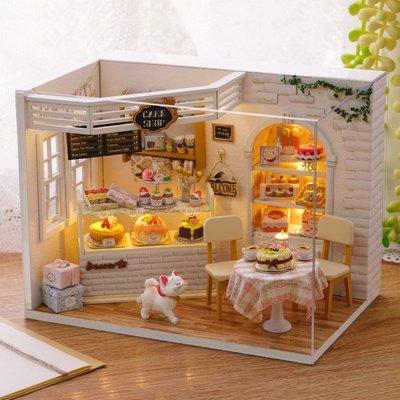益智拼圖 手工創意 diy小屋手工創意小房子別墅模型拼裝玩具兒童節制作生日禮物女生