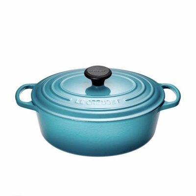 僅特價至10/ 31 Le Creuset LC 橢圓形鑄鐵鍋 27cm 4.1L 藍綠色 LC鍋 台北市