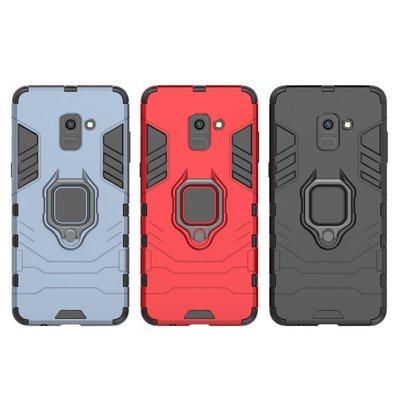 Samsung Galaxy A8 2018 Plus 指環二合一支架 全包邊 機殼 後殻 保護殼 case cover