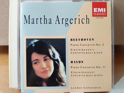 Argerich,Beethoven/Haydn-P.c No.2/11,阿格麗希鋼琴&指揮倫敦交響樂團,演繹貝多芬/海頓-第2/11號鋼琴協奏曲,早期日本版.