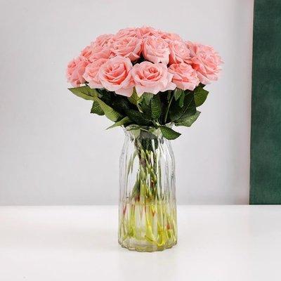 YEAHSHOP 保濕玫瑰仿真花家居裝飾花擺設客廳假花干花花束花瓶餐桌花藝擺件268002Y185