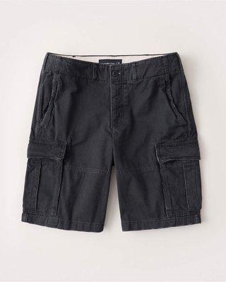 Maple麋鹿小舖 Abercrombie&Fitch * AF 黑色洗舊風工作短褲 * ( 現貨29/30/31號 )