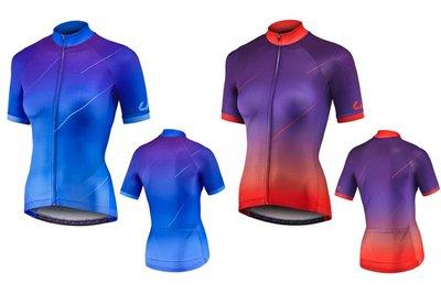 2019 捷安特 GIANT Liv METEORA 流星 短袖車衣 (限量款)藍/ 紫、紫/ 珊瑚紅