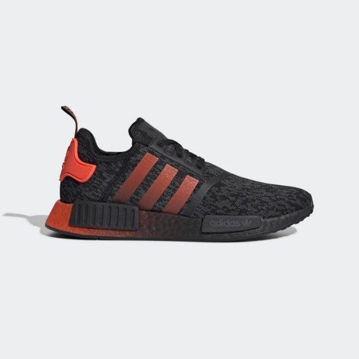 POMELO柚 Adidas NMD_R1 EG7953 BOOST 黑橘色 愛迪達 休閒運動鞋 男鞋 黑橘色