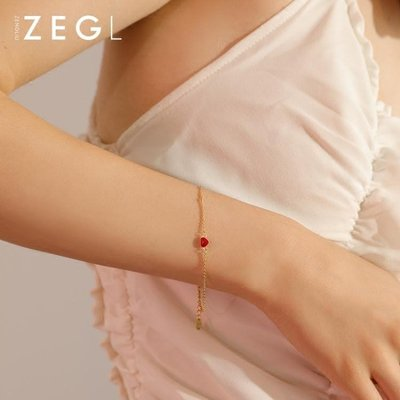 ZEGL紅心手錬女韓版森系簡約個性學生首飾閨蜜姐妹錬情侶生日禮物 【Pink Q】