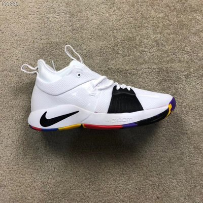 NIKE PG2保羅喬治2代NCAA全明星座2.5黑白曼巴籃球鞋男AJ5164-100