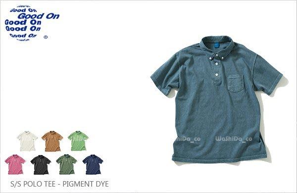 WaShiDa【GOST1103P】Good On 日本品牌 顏料染色 5.5oz 美國棉 口袋 POLO衫 短袖