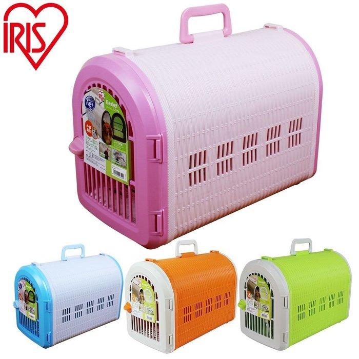 COCO《現貨》日本IRIS藤紋寵物提籃BL-460(附專用背袋)五種顏色~外出籠.貓籠可當臘腸包/運輸籠