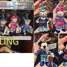 17-815-54-香港迪士尼樂園- 十二周年-米奇/米妮/達菲熊/雪莉玫/東尼貓-情侶公仔鑰匙圈