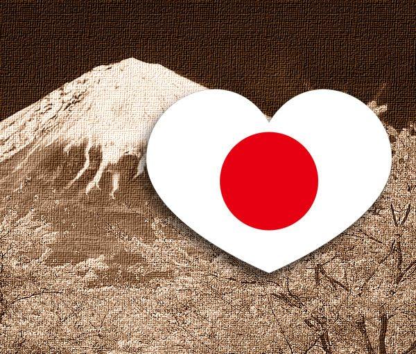 【衝浪小胖】日本國旗抗UV、防水愛心形登機箱貼紙/Japan/各國都有販賣和客製