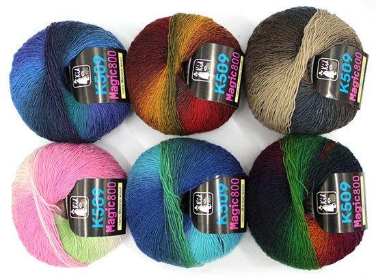 毛線編織KID K509 魔術800毛線~襪子、圍巾、衣服~手工藝材料、編織書、編織工具、進口毛線☆彩暄手工坊☆