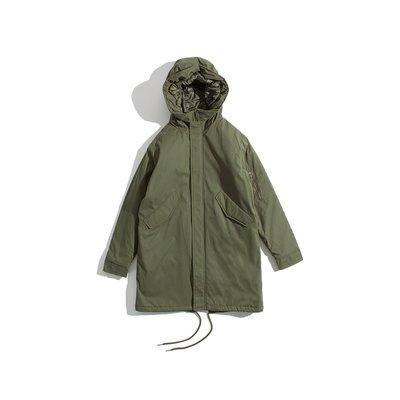 Cover Taiwan 官方直營 連帽外套 長版 鋪棉 風衣 大衣 軍裝 余文樂 M51 M65 軍綠色 (預購) 台北市